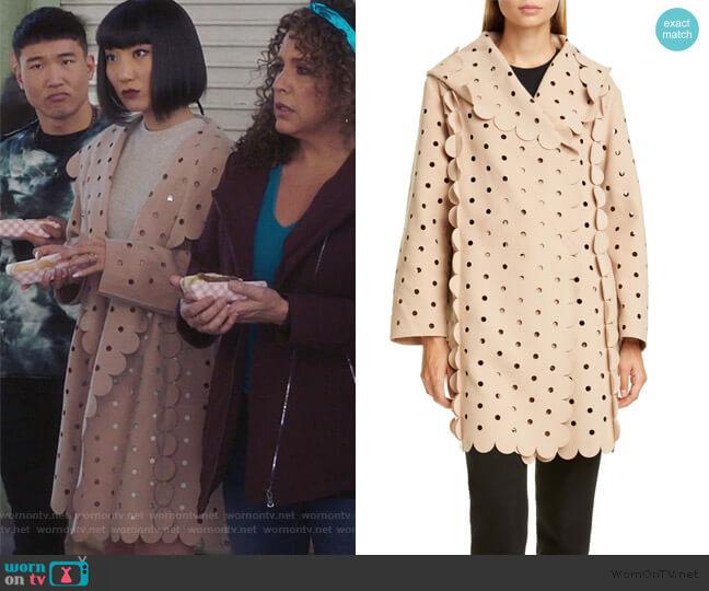 Hooded Appliqué Coat by Paskal worn by Mei Lin (Poppy Liu) on Sunnyside