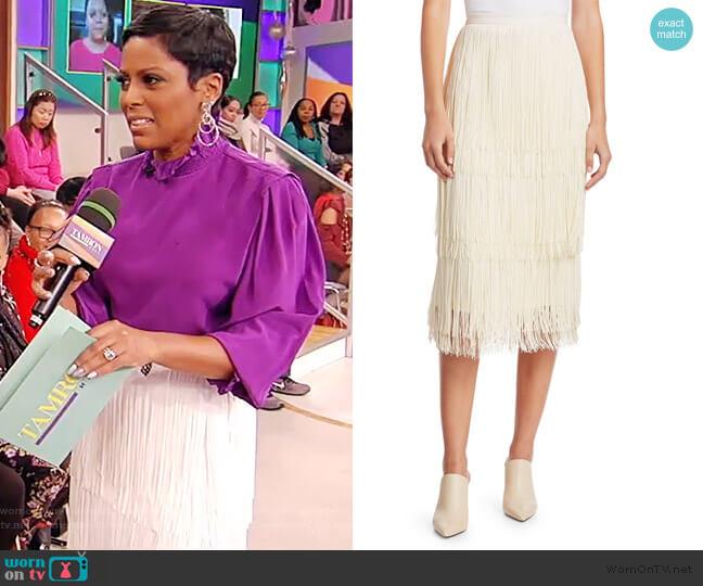 Gyre Fringe Midi Skirt by Rachel Comey worn by Tamron Hall  on Tamron Hall Show