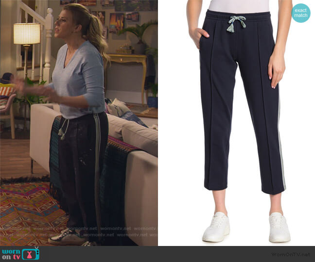 Molly Striped Trim Track Pants by Rag and Bone worn by Stephanie Tanner (Jodie Sweetin) on Fuller House
