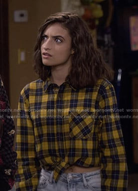 Ramona's yellow plaid cropped shirt on Fuller House