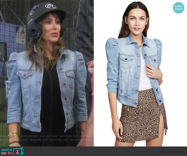 Ada Denim Jacket by Retrofete worn by Kelly Dodd  on The Real Housewives of Orange County
