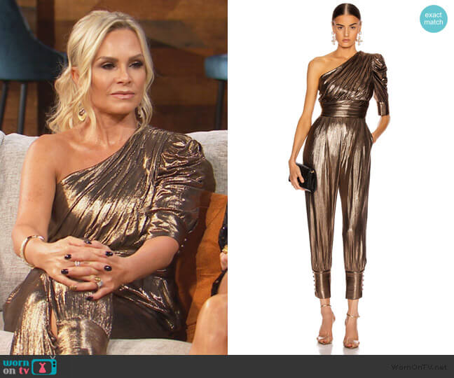 Thambi Jumpsuit by Retrofete worn by Tamra Judge  on The Real Housewives of Orange County