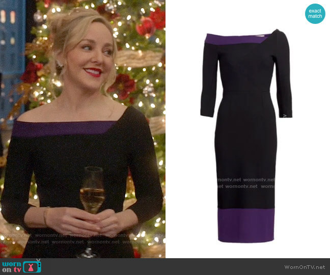 Roland Mouret Girtin Dress worn by Marissa Morgan (Geneva Carr) on Bull