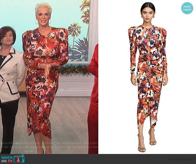 Bianco Dress by Ronny Kobo worn by Bridgette Neilsen on The Talk