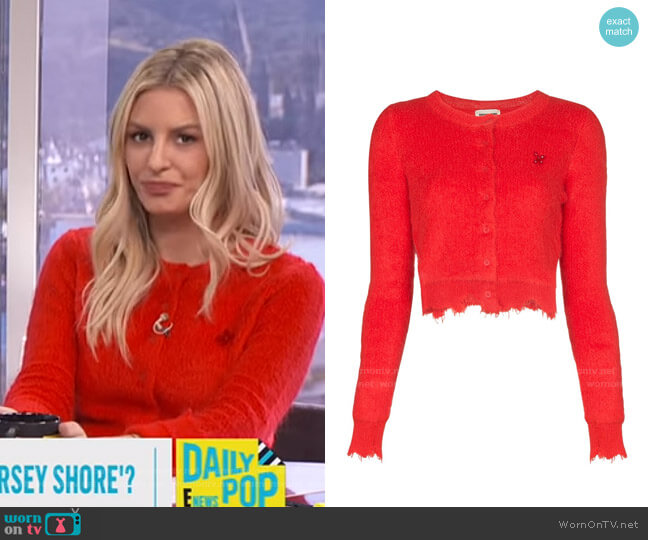 Distressed Edge Cardigan by Shushu/Tong worn by Morgan Stewart  on E! News