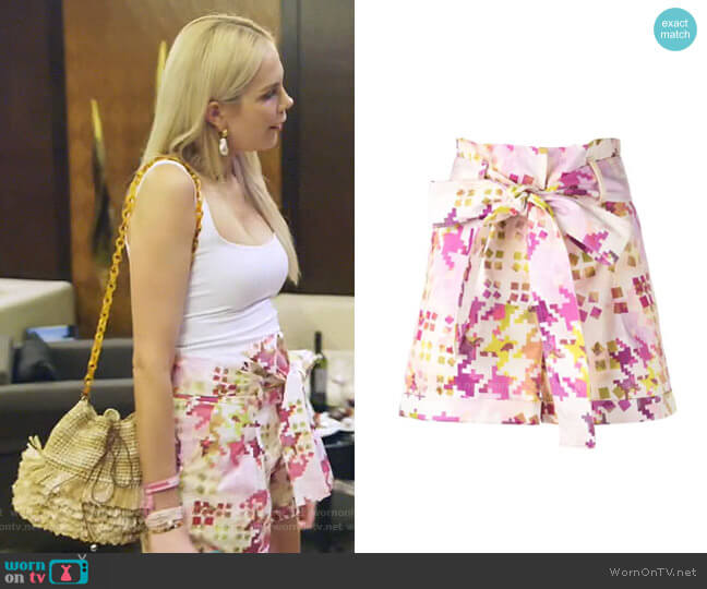 Velano Shorts by Silvia Tcherassi worn by Kameron Westcott  on The Real Housewives of Dallas