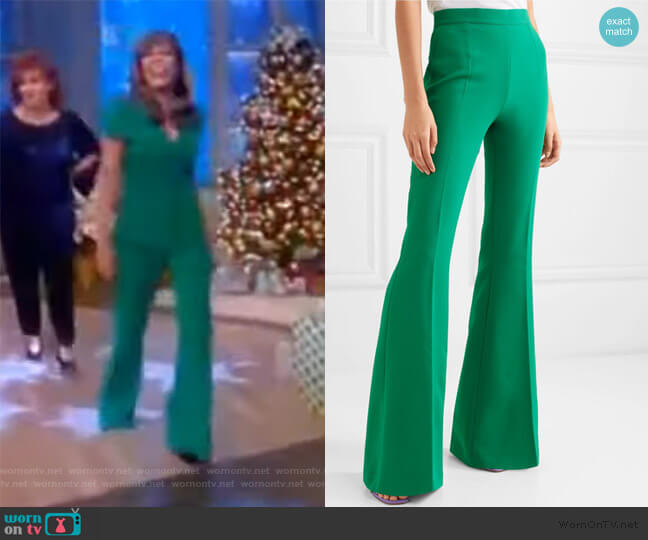 Halluana high-rise flared pants by Safiyaa worn by Abby Huntsman  on The View