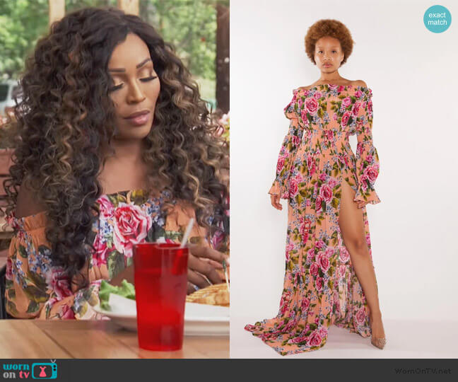 Rosario Maxi Dress by Sai Sankoh worn by Cynthia Bailey  on The Real Housewives of Atlanta