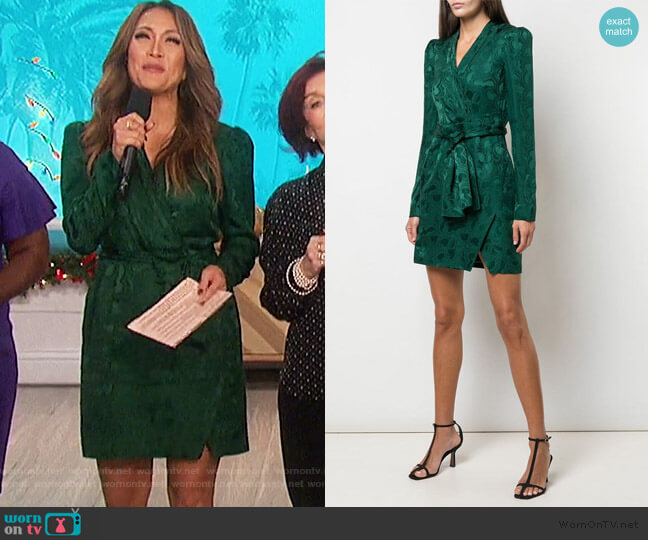 Bibi Dress by Saloni worn by Carrie Inaba  on The Talk