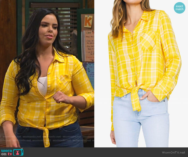 Hayley Tie Front Shirt by Sanctuary worn by Lou Hockhauser (Miranda May) on Bunkd