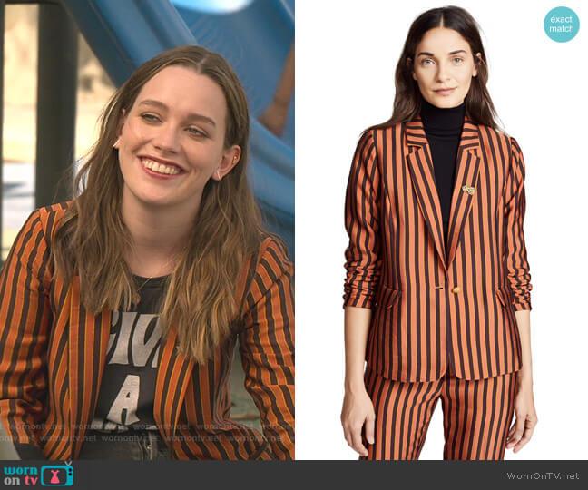 Classic Striped Blazer by Scotch & Soda worn by Love Quinn (Victoria Pedretti) on You