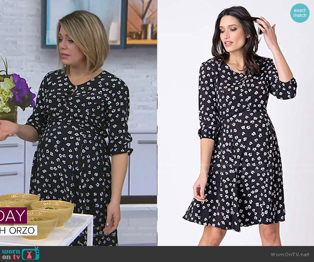 Casual A Line Keyhole Nursing Dress by Seraphine worn by Dylan Dreyer  on Today