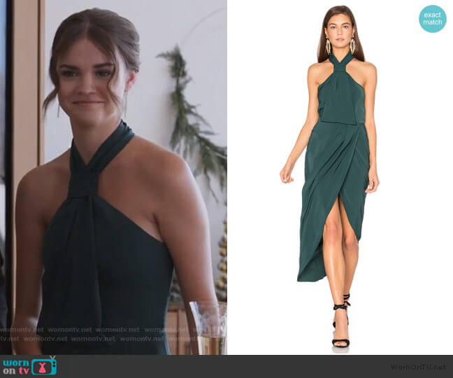 Core Knot Dress by Shona Joy worn by Callie Foster (Maia Mitchell) on Good Trouble