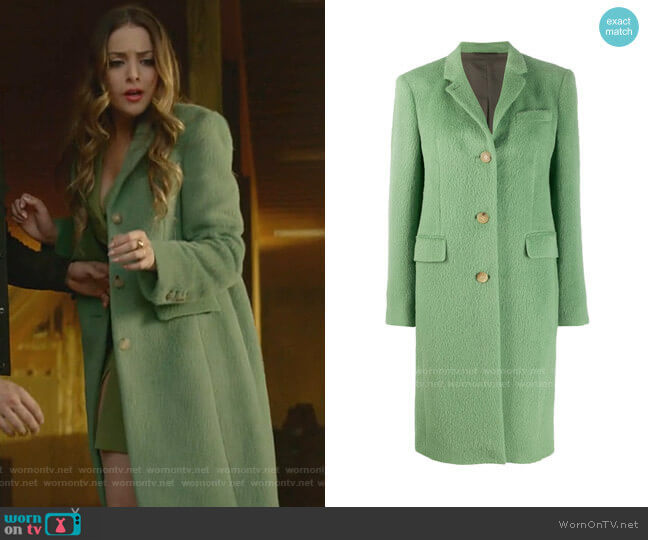 Single-Breasted Coat by Acne Studios worn by Fallon Carrington (Elizabeth Gillies) on Dynasty