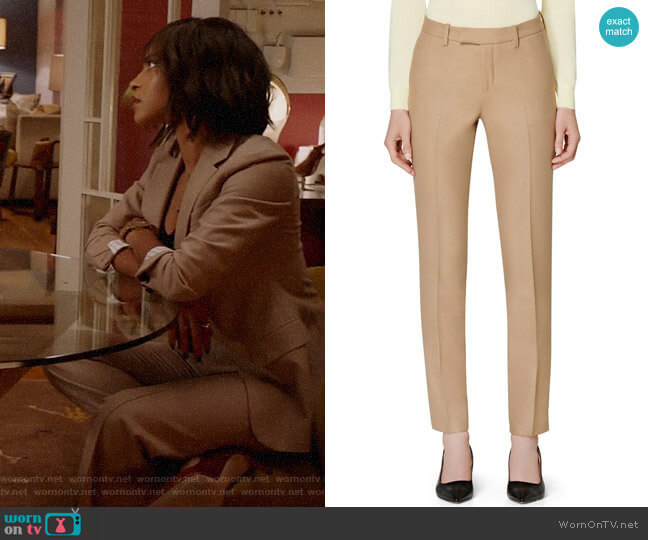 Suistudio Robin Cuff High Waist Pants worn by Edie Palmer (Megalyn Echikunwoke) on Almost Family