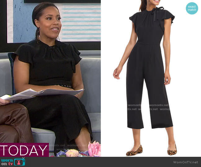 Sybil Flutter Sleeve Jumpsuit by Gal Meets Glam Collection worn by Sheinelle Jones  on Today