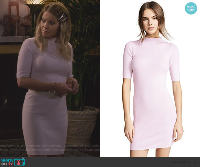 Cashmere Mini Sweater Dress by TSE Cashmere worn by DJ Tanner-Fuller (Candace Cameron Bure) on Fuller House
