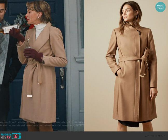 Ellgenc Wrap Coat by Ted Baker worn by Wendie Malick on American Housewife