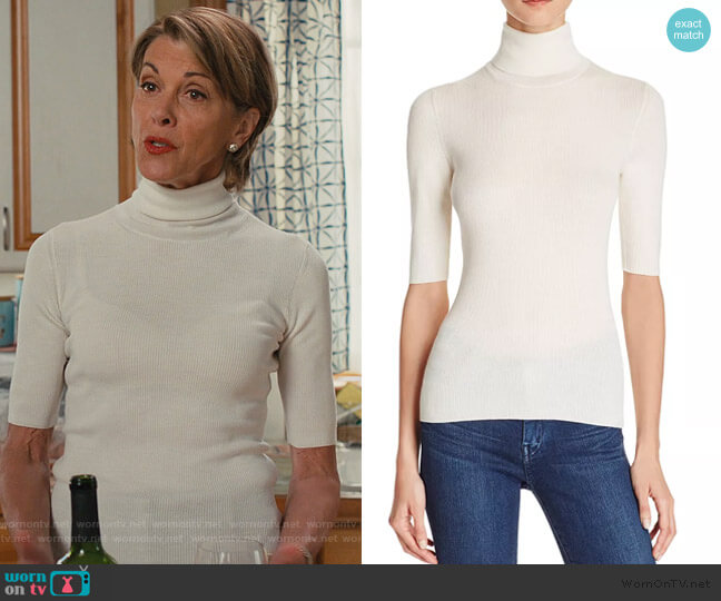 Leenda R Turtleneck Sweater by Theory worn by Wendie Malick on American Housewife