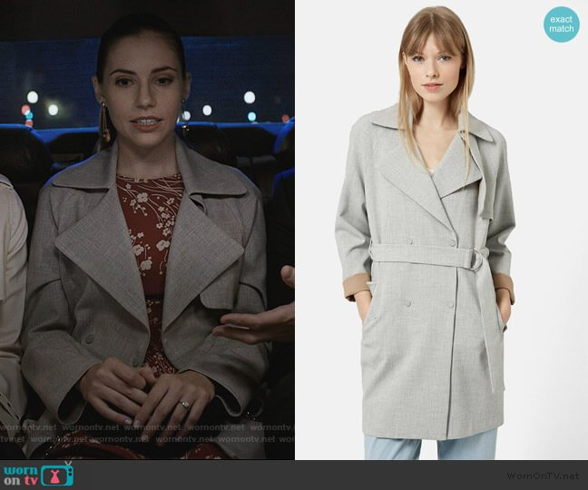 Double Breasted Trench Coat by Topshop worn by Stephanie 'Stevie' McCord (Wallis Currie-Wood) on Madam Secretary