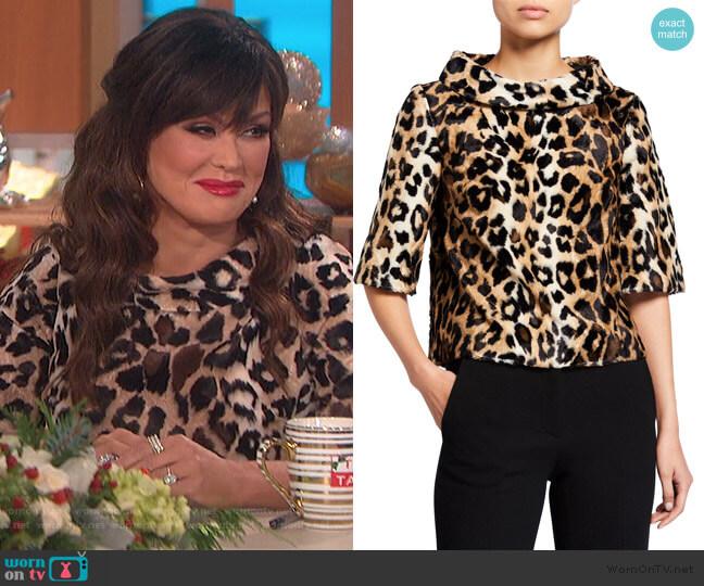 Faux Leopard Roll-Neck by Trina Turk worn by Marie Osmond  on The Talk