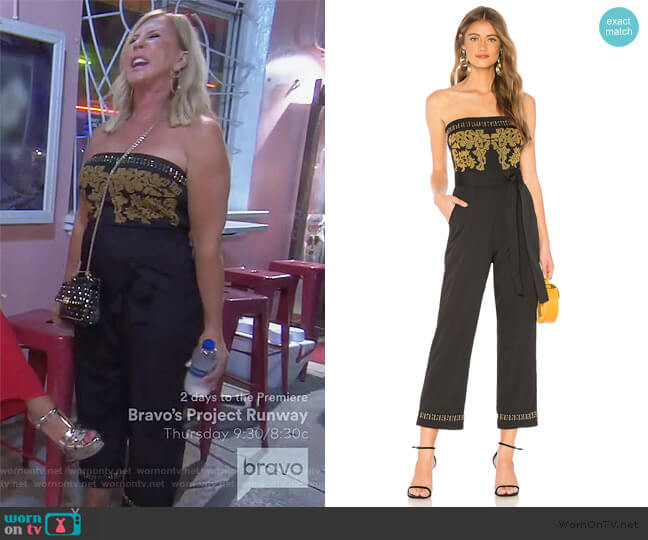 Emma Jumpsuit by Tularosa worn by Vicki Gunvalson  on The Real Housewives of Orange County
