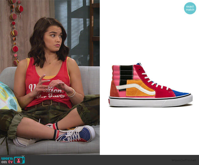 Sk8 Hi sneakers by Vans worn by Alexa Mendoza (Paris Berelc) on Alexa & Katie