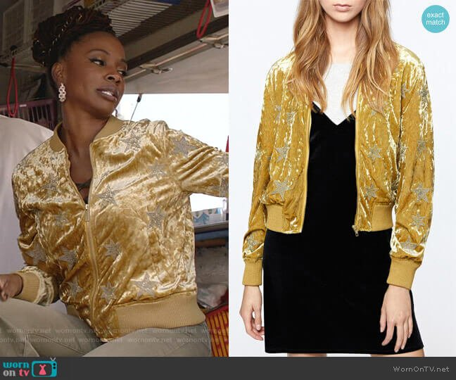 Velvet Star Jacket by Sanctuary worn by Veronica Fisher (Shanola Hampton) on Shameless