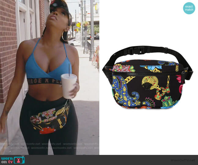 Jete Jewelry Print Nylon Bag by Versace worn by Porsha Williams  on The Real Housewives of Atlanta