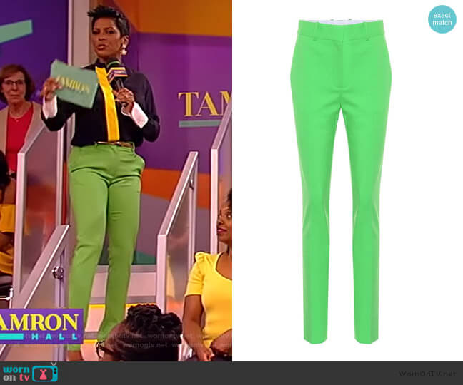 Slim wool-blend trousers by Victoria Beckham worn by Tamron Hall  on Tamron Hall Show