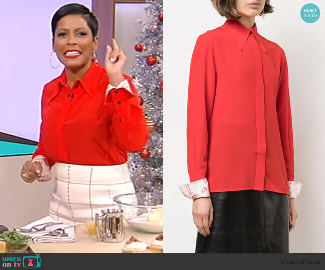 Printed Cuffs Buttoned Shirt by Victoria Beckham worn by Tamron Hall  on Tamron Hall Show