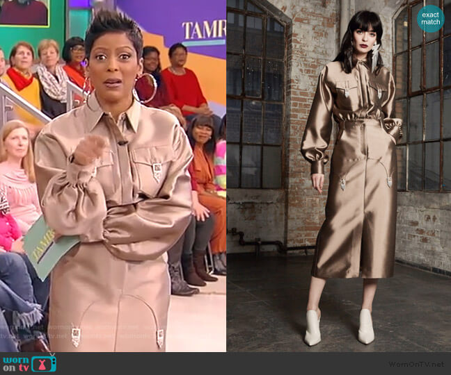 Bronte Patch Pocket Shirtdress by Victoria Hayes worn by Tamron Hall  on Tamron Hall Show