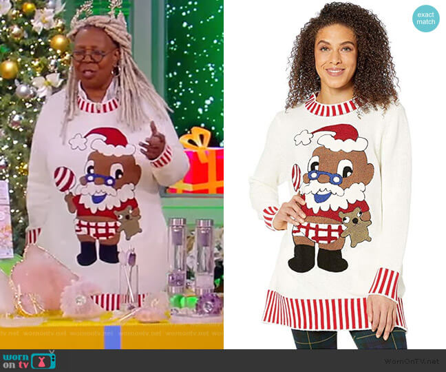 Baby Santa Sweater by Dubgee by Whoopi worn by Whoopi Goldberg  on The View