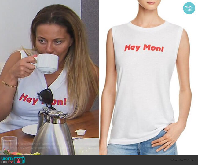 Hey Mon! Top by Wildfox worn by Dolores Catania  on The Real Housewives of New Jersey