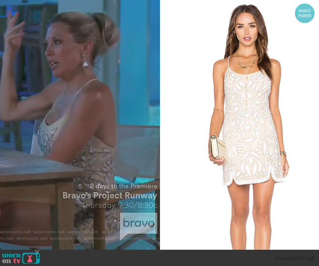 Madeline Dress by X by NBD worn by Braunwyn Windham-Burke  on The Real Housewives of Orange County