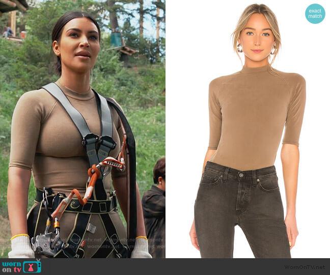 Season 6 Mock Neck Tee by Yeezy worn by Kim Kardashian  on Keeping Up with the Kardashians