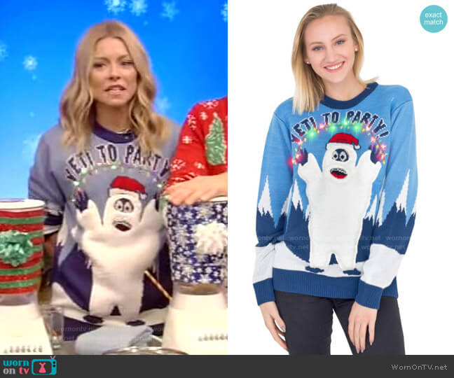 Ugly Christmas Sweater worn by Kelly Ripa  on Live with Kelly & Ryan