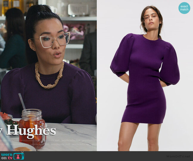 Puffy Sleeved Dress by Zara worn by Doris (Ali Wong) on American Housewife