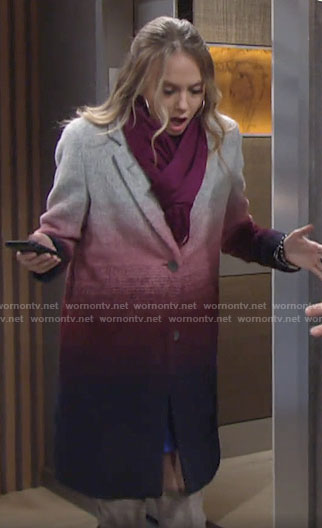 Abby's ombre coat on The Young and the Restless