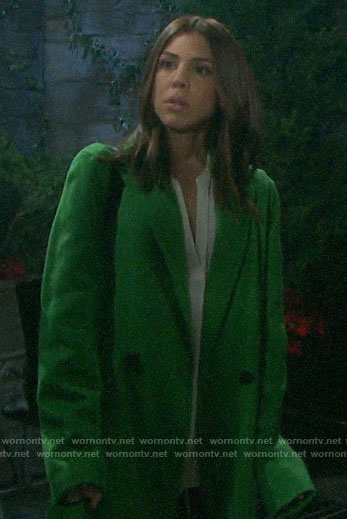 Abigail's green coat on Days of our Lives