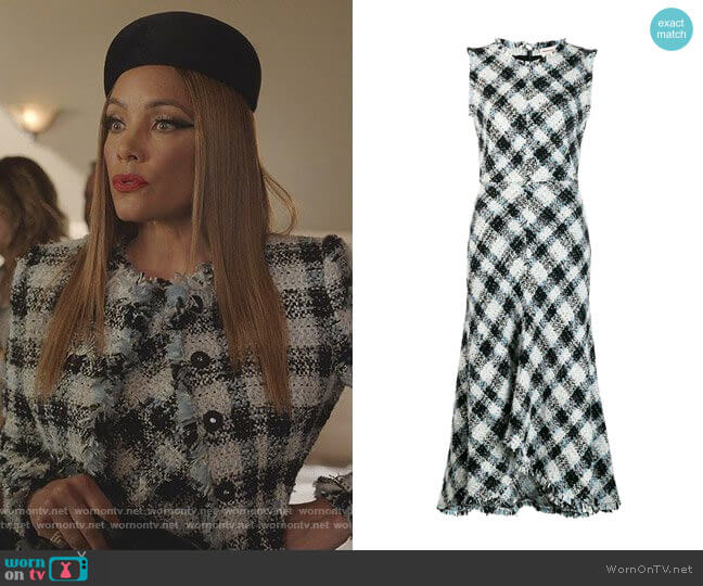 Tweed Midi Dress by Alexander McQueen worn by Dominique Deveraux (Michael Michele) on Dynasty