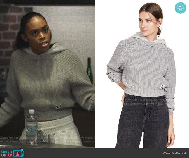 Utility Hoodie Sweater by alexanderwang.t worn by Anissa Pierce (Nafessa Williams) on Black Lightning