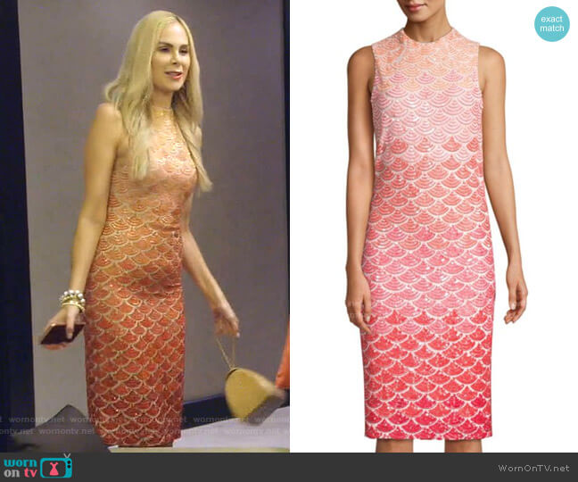 Rosalee Embellished Sequin Sheath Dress by Alice + Olivia worn by Kameron Westcott  on The Real Housewives of Dallas