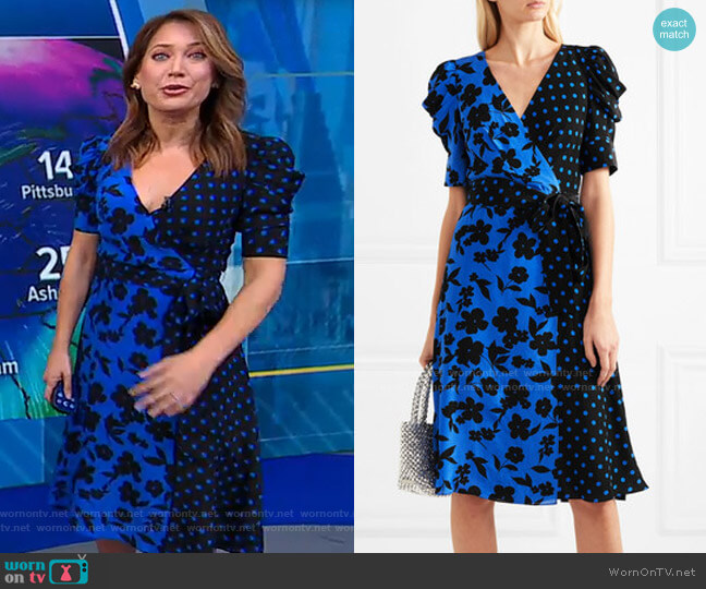 Siona Dress by Alice + Olivia worn by Ginger Zee  on Good Morning America