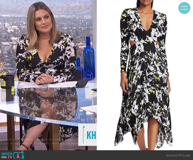 Temika Cutout Print Dress by Alice + Olivia worn by Carissa Loethen Culiner  on E! News