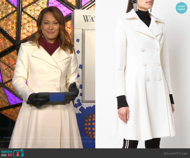 Leila Coat by Alice + Olivia worn by Ginger Zee  on Good Morning America