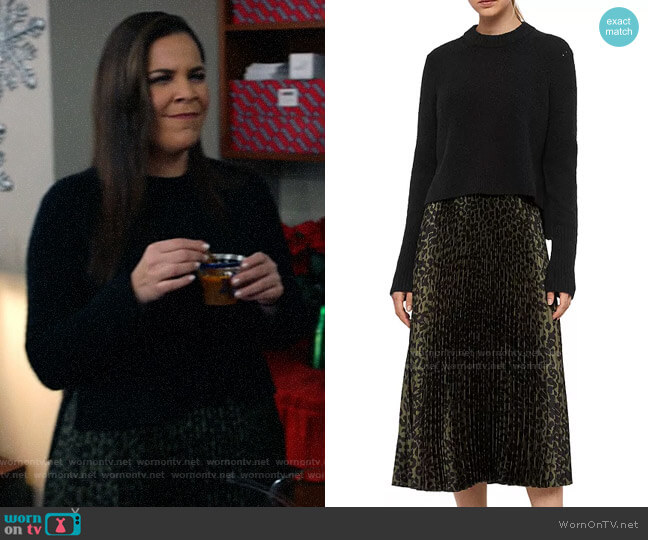 All Saints Leowa Two-Piece Pleated Dress worn by Sara Castillo (Lindsay Mendez) on All Rise