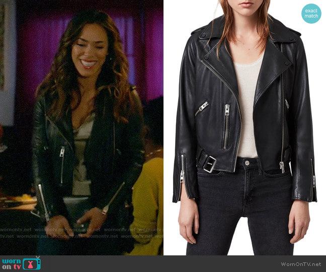 All Saints Balfern Jacket worn by Emily Lopez (Jessica Camacho) on All Rise