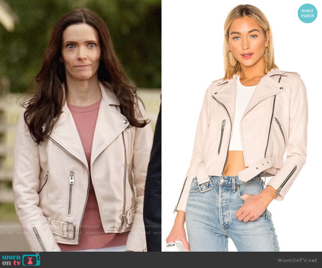 All Saints Balfern Jacket in Powder Pink worn by Lois Lane (Elizabeth Tulloch) on Batwoman