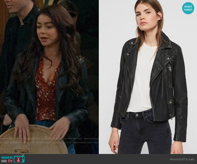All Saints Cargo Leather Biker Jacket worn by Haley Dunphy (Sarah Hyland) on Modern Family